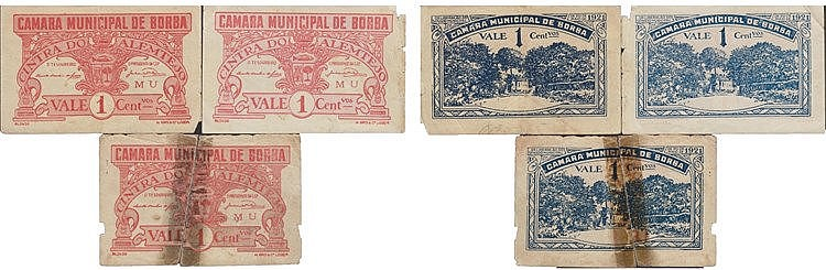 Cédula - Borba 3 expl. 1 Centavo 1921