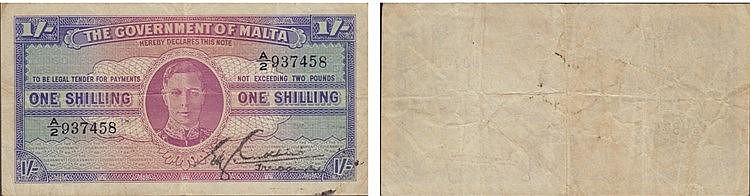 Paper Money - Malta Shilling ND (1943)