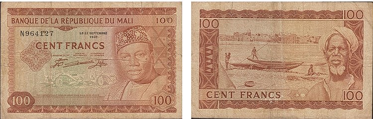 Paper Money - Mali 100 Francs 1960