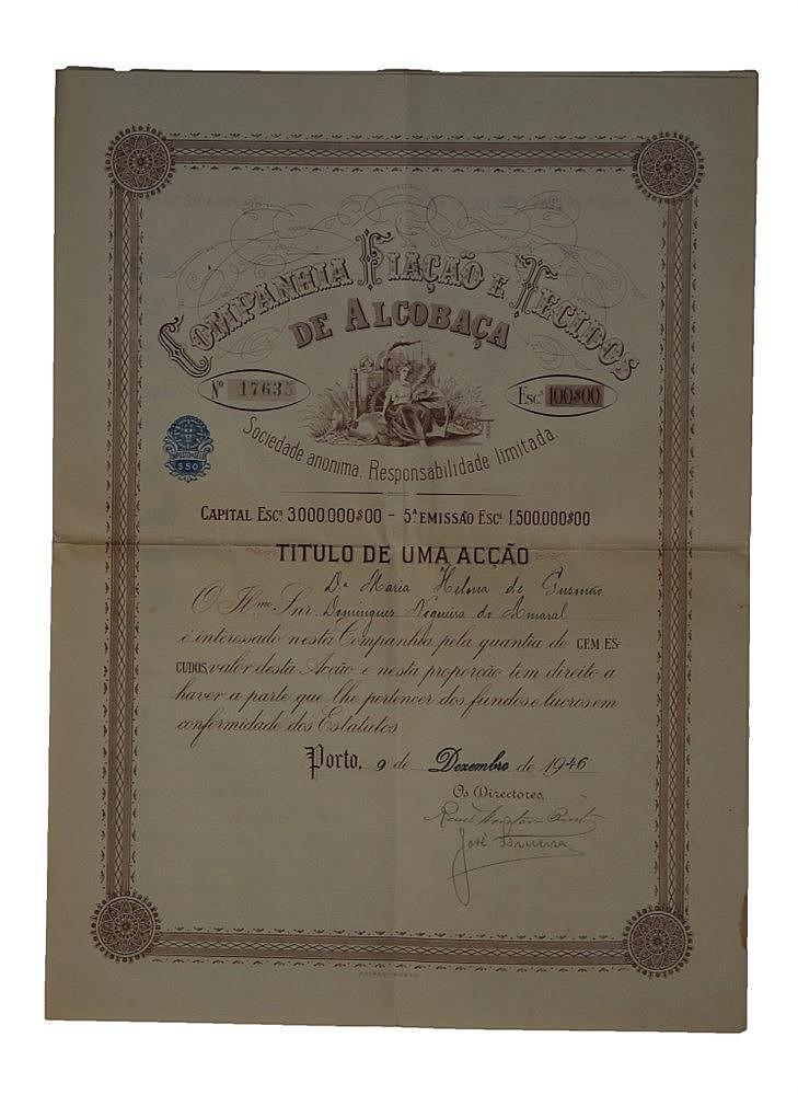 Título de Acção - 100$00 1946