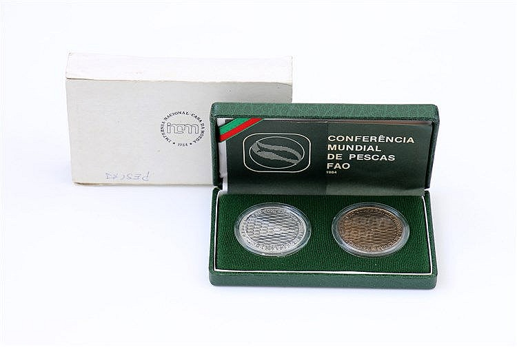 Portugal - Republic - 2 coins 250$00 1984
