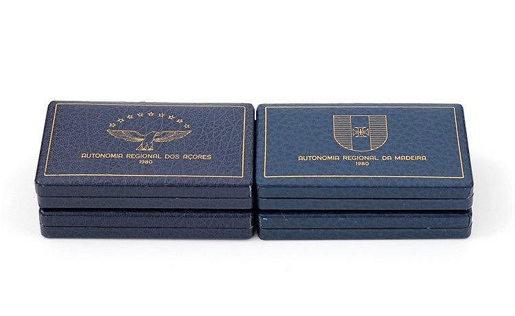 Azores/Madeira - 8 coins 25$00, 100$00 1980-1981