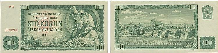 Paper Money - Czechoslovakia 100 Korun 1961
