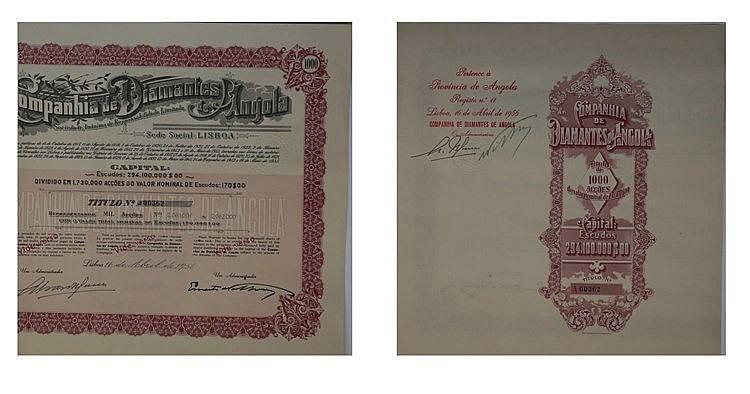 Título de Acção - 170.000$00 1956