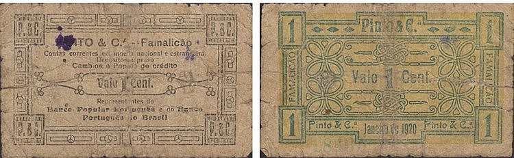 Cédula - Famalicão 1 Centavo 1920
