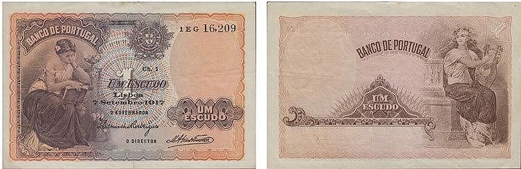Paper Money - Portugal - 1$00 ch. 1 1917