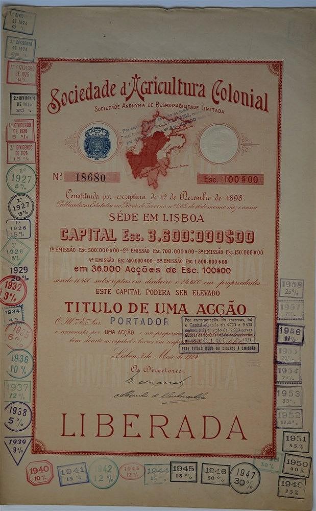 Título de Acção - 100$00 1924