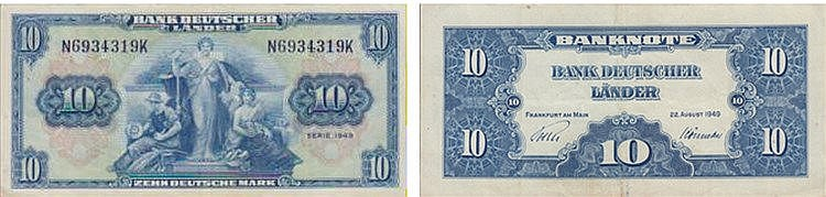 Paper Money - Germany 10 Deutsche Mark 1949