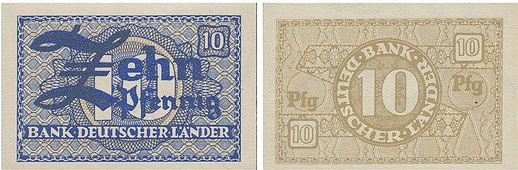 Paper Money - Germany 10 Pfennig ND (1948)