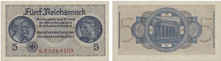 Paper Money - Germany 5 Reichsmark ND (1940-45)