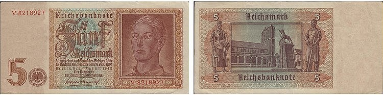Paper Money - Germany 5 Reichsmark 1942