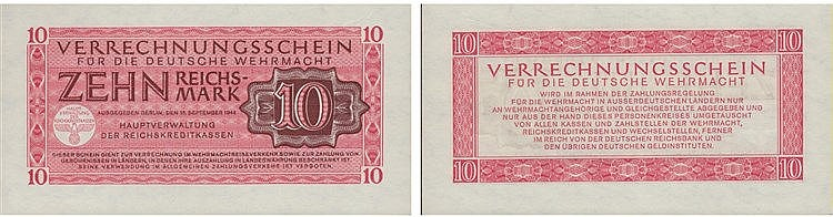 Paper Money - Germany 10 Reichsmark 1944