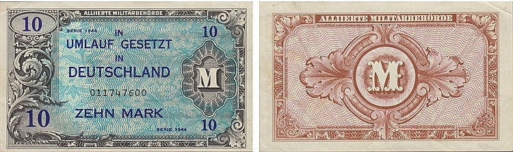 Paper Money - Germany 10 Mark 1944