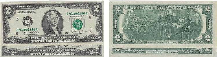 Paper Money - 2 expl. E.U.A. 2 Dollars 1976