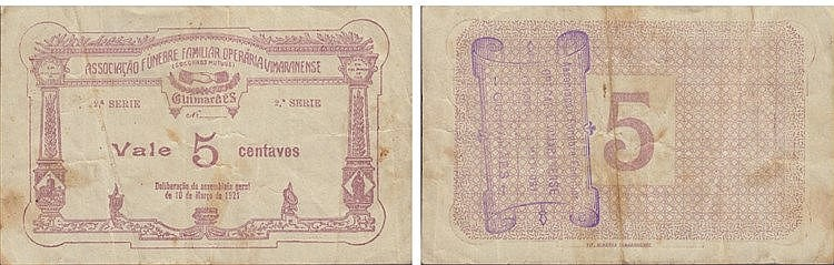 Cédula - Guimarães 5 Centavos 1921