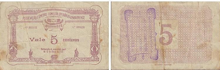 Cédula - Guimarães 5 Centavos 1921