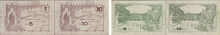 Cédula - Guimarães 2 expl. 5, 10 Centavos N/D