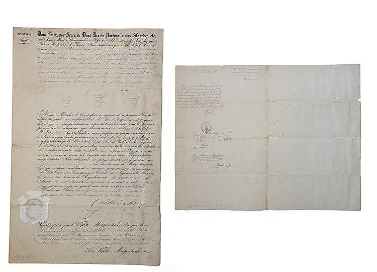 Documento - Diploma de Medalha de Nª Srª da Conceição de Vila Viçosa 1882