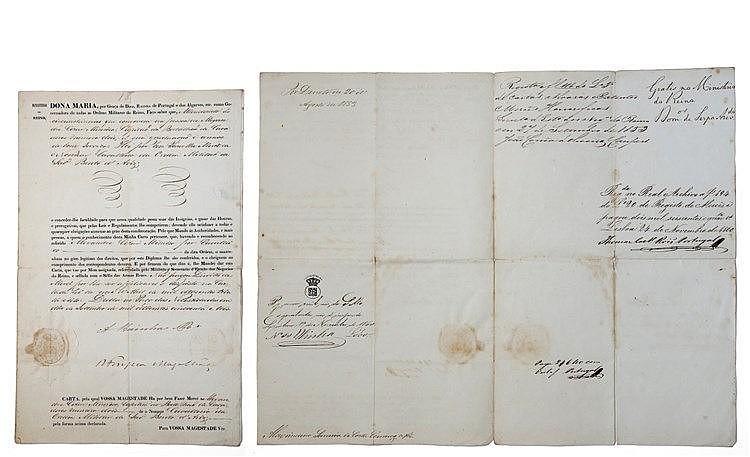 Documento - Diploma de Medalha Ordem Militar de Avis 1853