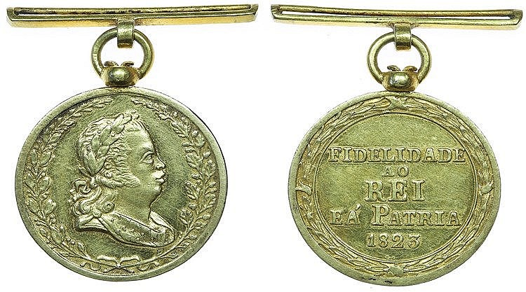 Portugal - Medal - Fidelidade ao Rei e à Pátria 1823