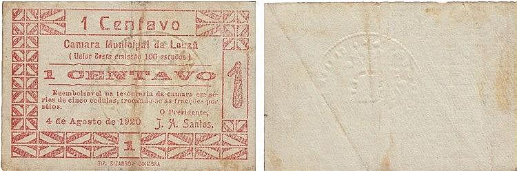 Cédula - Louzã 1 Centavo 1920