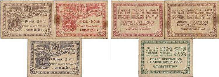 Cédula - Guimarães 3 expl. 1, 4, 10 Centavos N/D