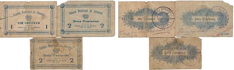 Cédula - Abrantes 3 expl. 1, 2 Centavos 1920