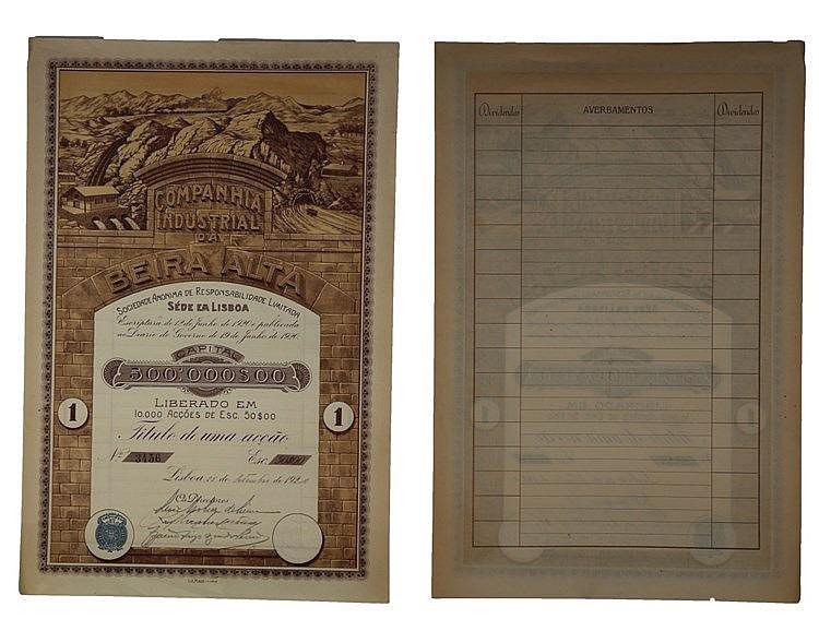 Título de Acção - 50$00 1920
