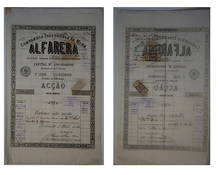 Título de Acção - 50$000 1882