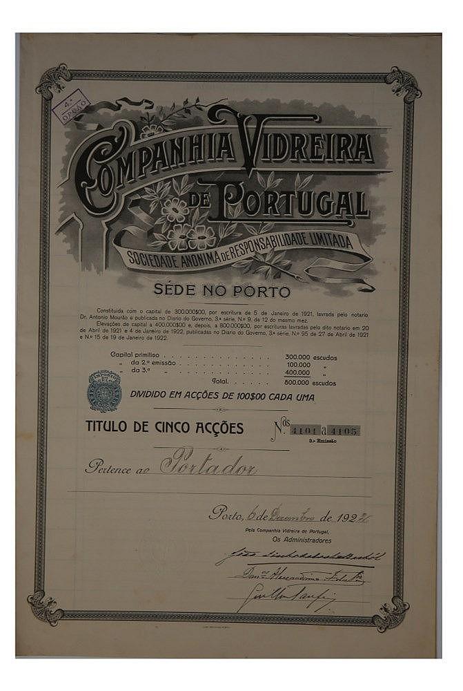 Título de Acção - 100$00 1922