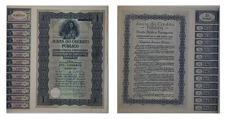 Junta de Crédito Público - 3% 1942