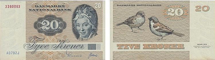 Paper Money - Denmark 20 Kroner (19)79