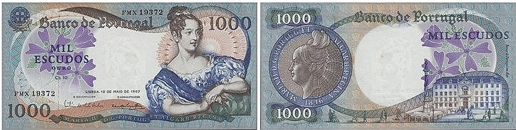 Paper Money - Portugal - 1000$00 ch. 10 1967