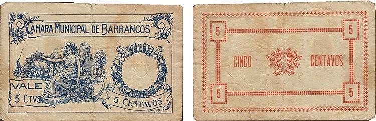 Cédula - Barrancos 5 Centavos 1921
