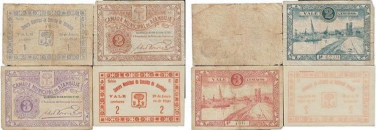 Cédula - Azambuja 4 expl. 1, 2, 3 Centavos 1920-1921