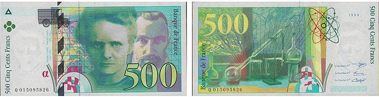 Paper Money - France 500 Francs 1994