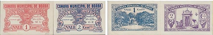 Cédula - Borba 2 expl. 1, 2 Centavos 1921