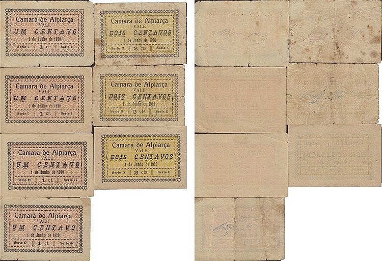 Cédula - Alpiarça 7 expl. 1, 2 Centavos 1920