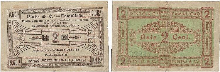 Cédula - Vila Nova de Famalicão 2 Centavos 1920