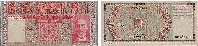 Paper Money - Nederland 25 Gulden 1941