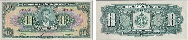 Paper Money - Haiti 10 Gourdes 1979