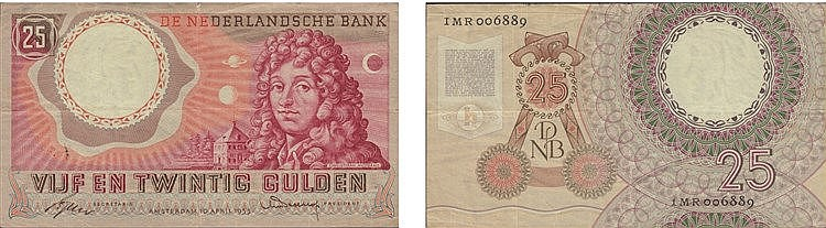 Paper Money - Nederland 25 Gulden 1955