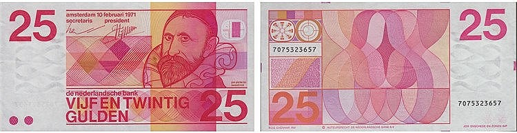Paper Money - Nederland 25 Gulden 1971