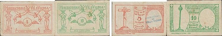 Cédula - Vila Viçosa 2 expl. 5, 10 Centavos 1921