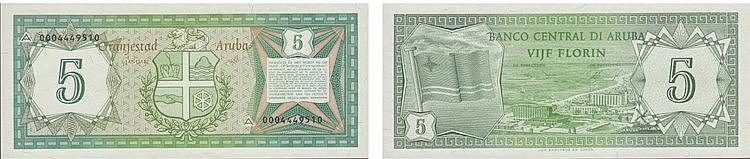 Paper Money - Aruba 5 Florin 1986