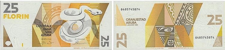 Paper Money - Aruba 25 Florin 1990