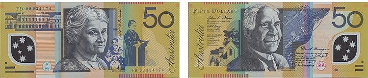 Paper Money - Australia 50 Dollars (20)08