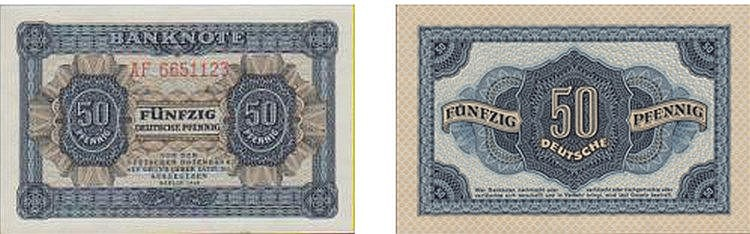 Paper Money - Germany 50 Deutsche Pfennig 1948