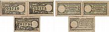 Cédula - Lisboa  3 expl. 5 Centavos 1917
