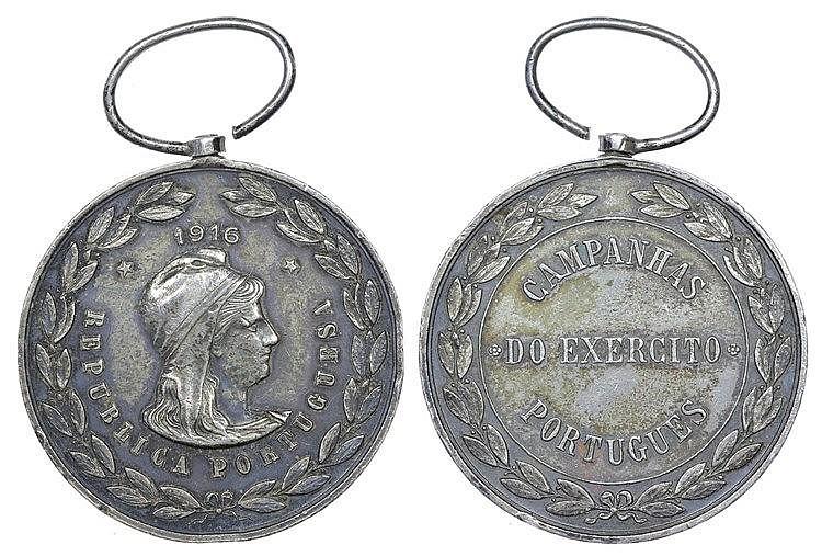 Portugal - Medal - Campanhas do Exército Português 1916